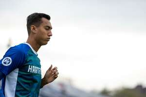 Giovanni Calderón, 19, became the first Hartford Athletic player to be offered, and sign, a USL Academy Contract. Calderón first impressed the club's staff when on trial in March.