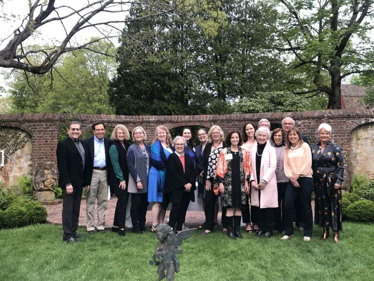 """The Ridgefield Arts Council recently hosted its annual """"Behind The Scenes"""" honors in the garden at the Keeler Tavern Museum & History Center."""
