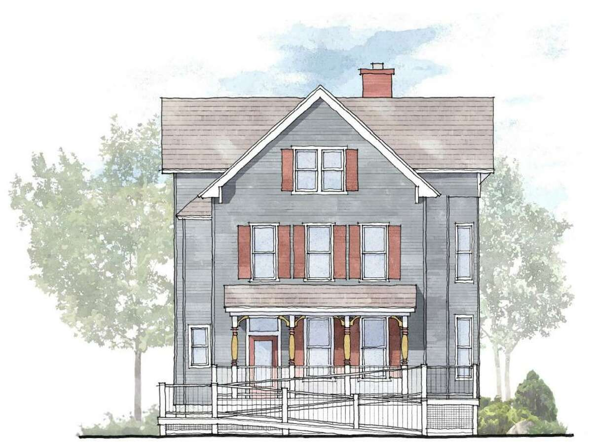 A drawing shows the results of planned renovations to a 121-year-old home at 132 Flax Hill Road in South Norwalk.