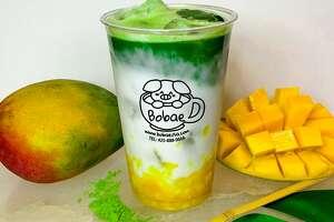 Matcha Mango Bobae