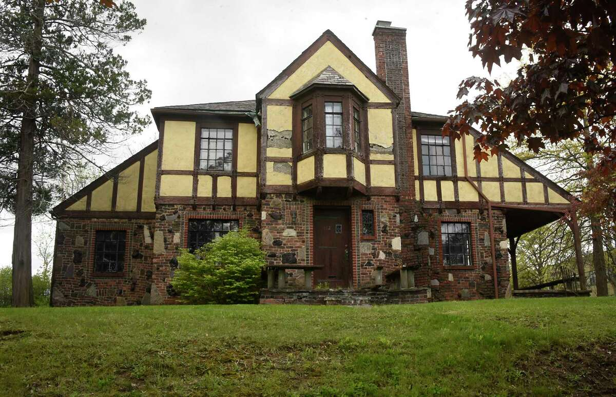 One of the tudor-style vacant homes which continue to fall into disrepair on Holland Ave. on Monday, May 10, 2021 in Albany, N.Y.(Lori Van Buren/Times Union)