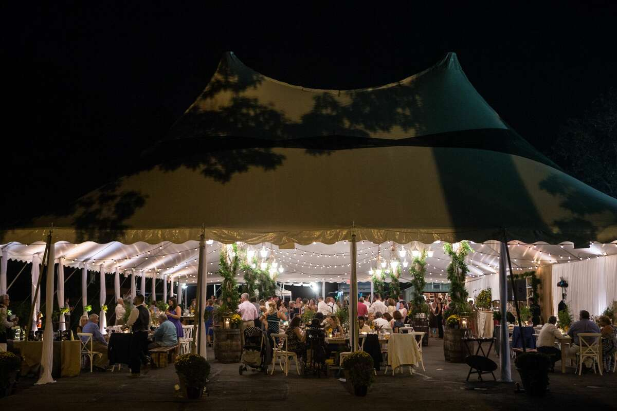 The outdoor pavilion in Serafina on the IC in Stamford.