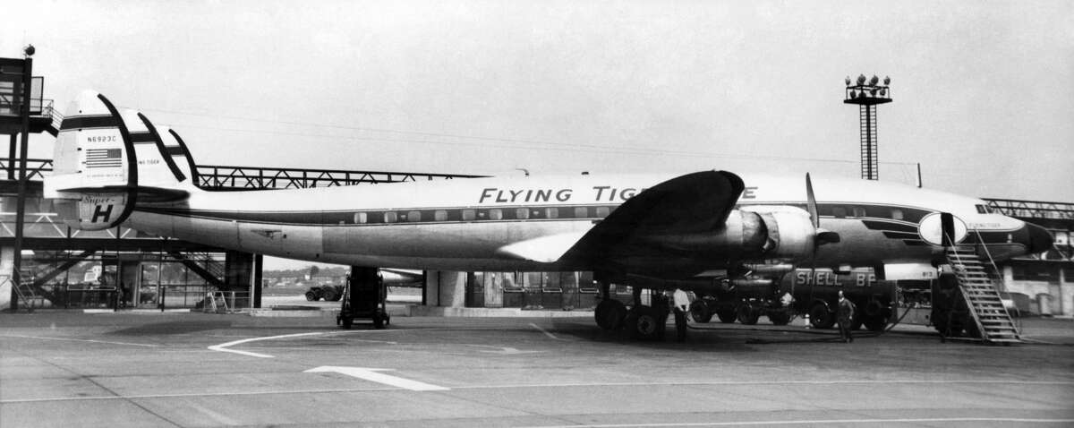 A 1962 file photo of a Flying Tiger Super Constellation, the same type of plane chartered by the U.S. military to ferry Army Rangers to Vietnam.