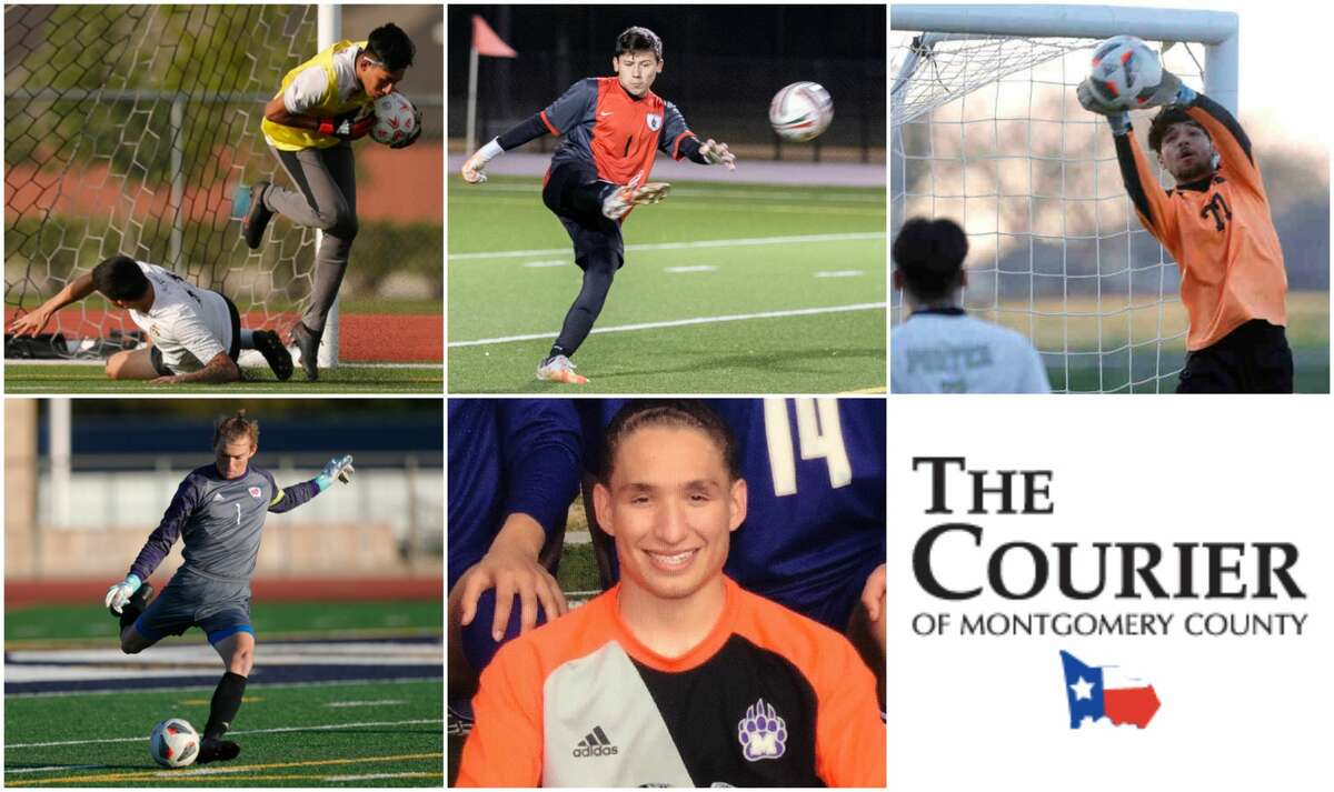 Ivan Ugalde (Splendora), Sebastian Pardo (The Woodlands), Marcos Acosta (Porter), Lucas Hickey (Oak Ridge) and Quintus Ford (Montgomery) are nominees for The Courier's Goalkeeper of the Year.