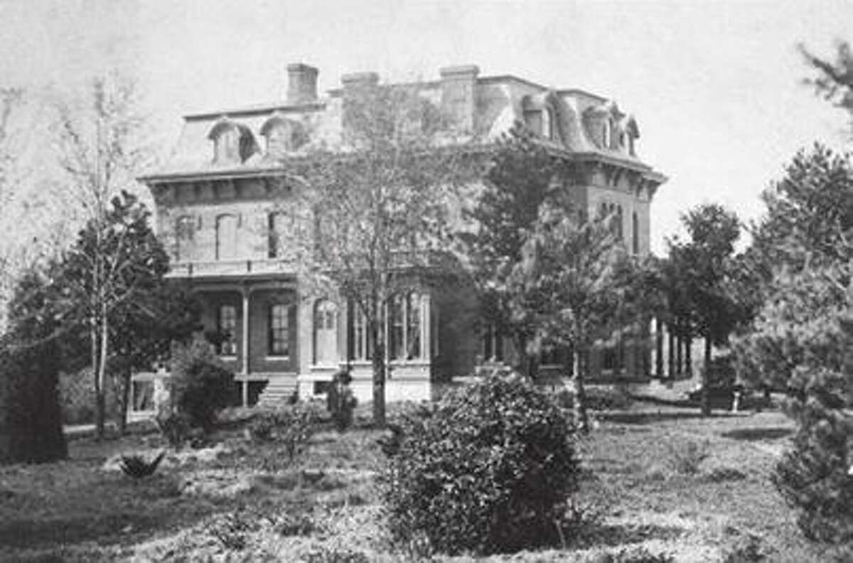 A photo of McPike Mansion while still in use by the family.