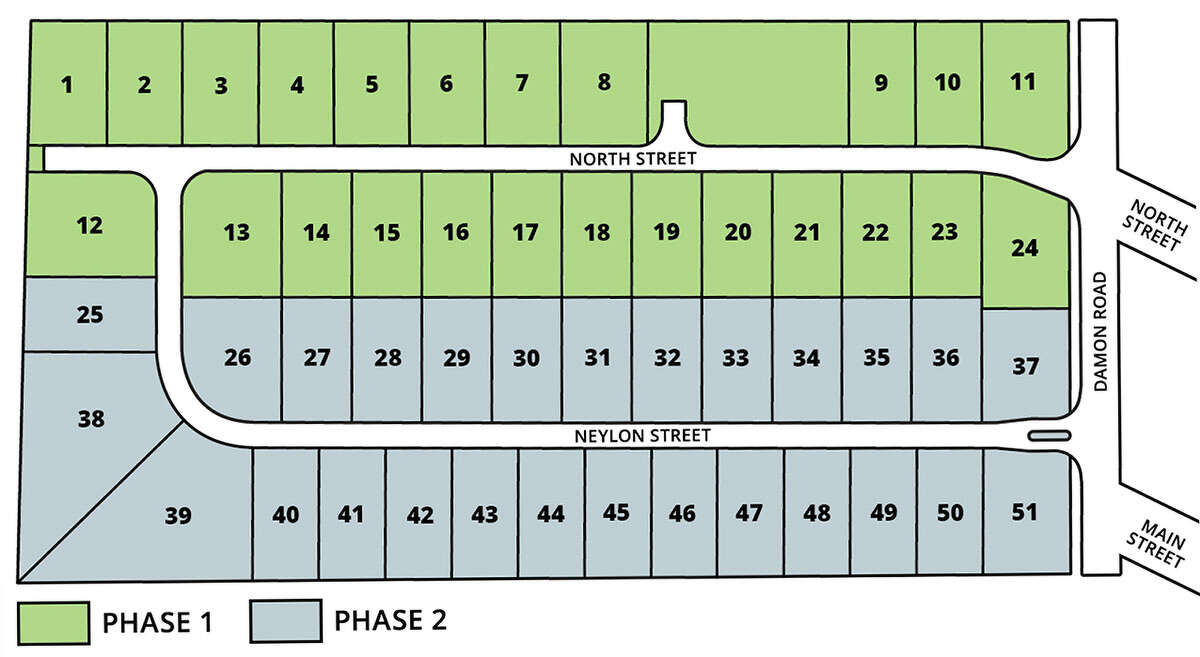 In the first phase of a planned Mount Sterling development, 24 lots will be built west of Damon Road. The remainder will be added on what will become Neylon Street north of Main Street and west of Damon Road.