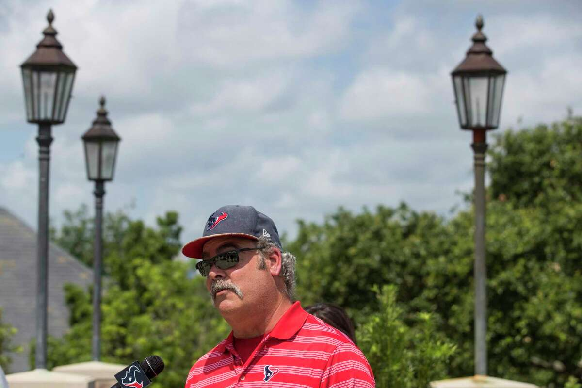Houston Texans CEO Cal McNair speaks during a news conference before the 18th Annual Houston Texans Charity Golf Classic Monday, May 10, 2021 in Houston. The tournament is expected to raise well over $350,000 this year, contributing to the more than $35 million raised for the Houston Texans Foundation since its inception in 2002.