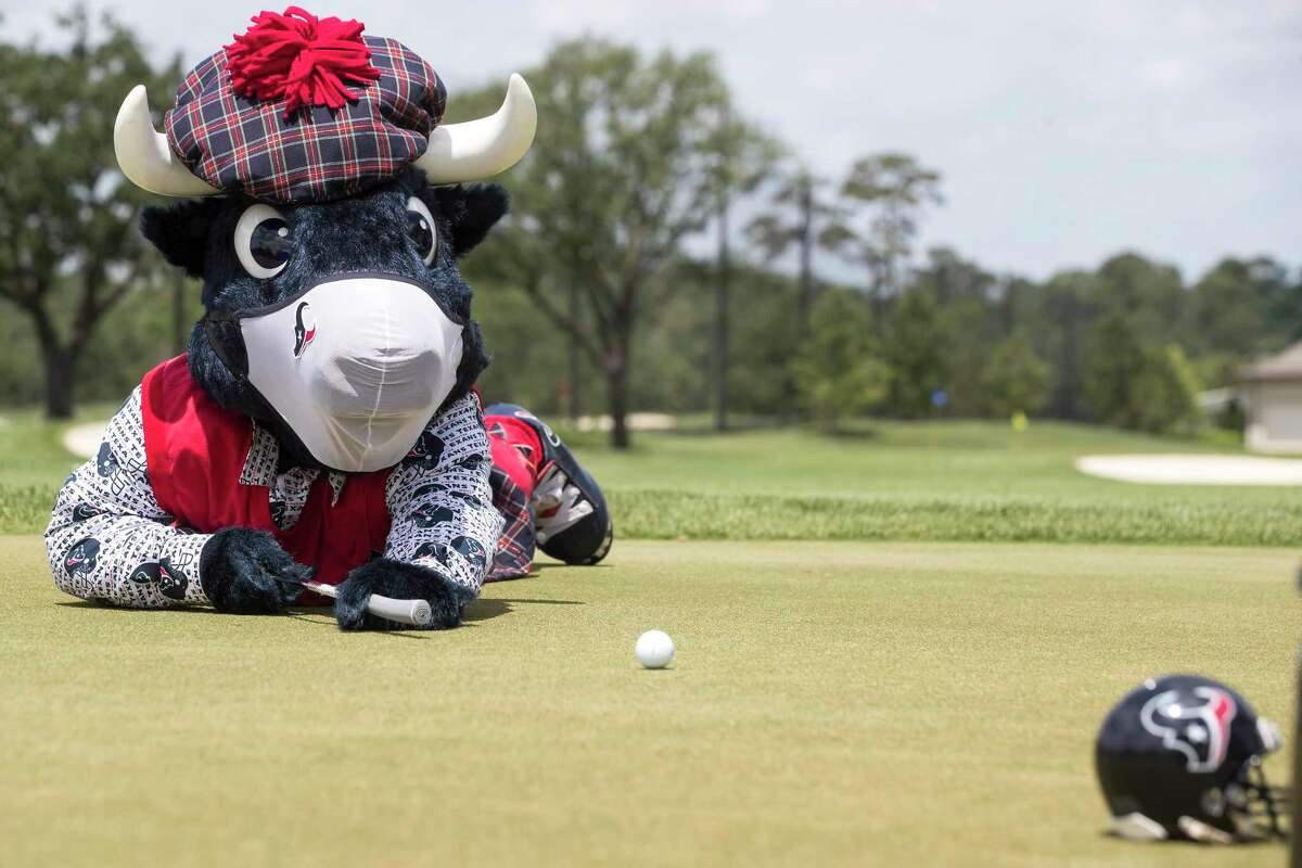 For one day, it was easy to let the Texans have some fun, like mascot Toro at the annual charity golf tournament, and think about a sunny future.