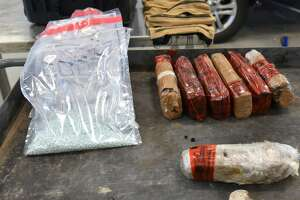 U.S. Customs and Border Protection officers seized 1.05 pounds of methamphetamine, 7.71 pounds of cocaine and 1.23 pounds of oxycodone on May 9 at the Juarez-Lincoln International Bridge. The narcotics had an estimated street value of $100,664.