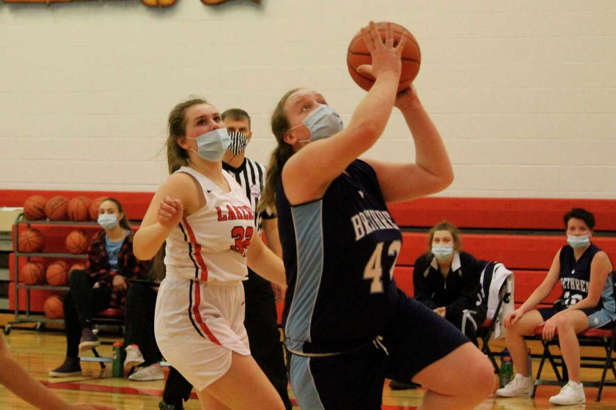 Brethren freshman Elly Sextonwas named an All-State honorable mention in Division 4 girls basketball by the Detroit Free Press. (News Advocate file photo)