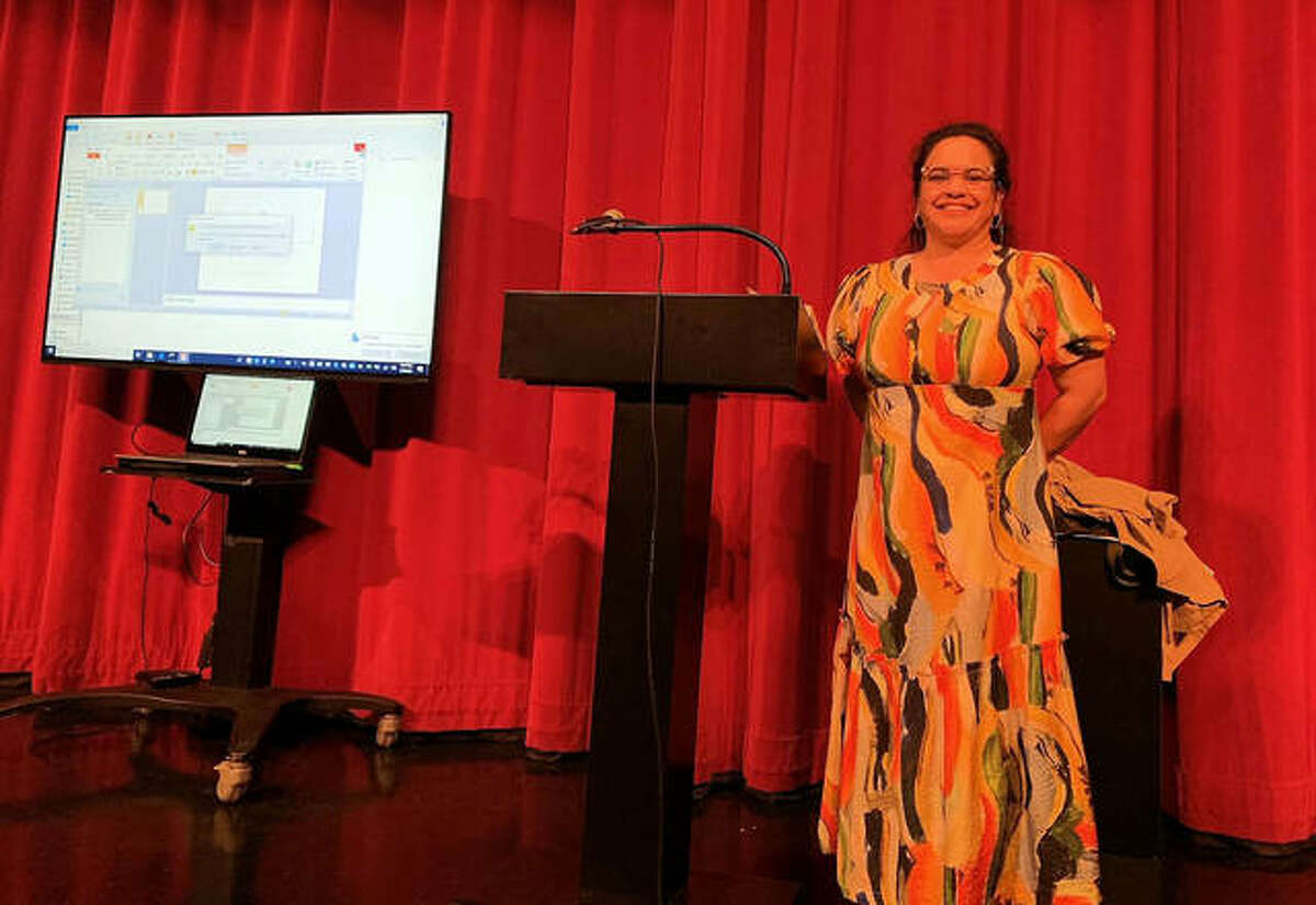"""SIUE professor of sociology Florence Maatita talks about """"The Color of Law,"""" by Richard Rothstein, May 6 at The Wildey Theatre as part of the Inclusion, Diversity, Equity and Awareness (IDEA) Book Club."""