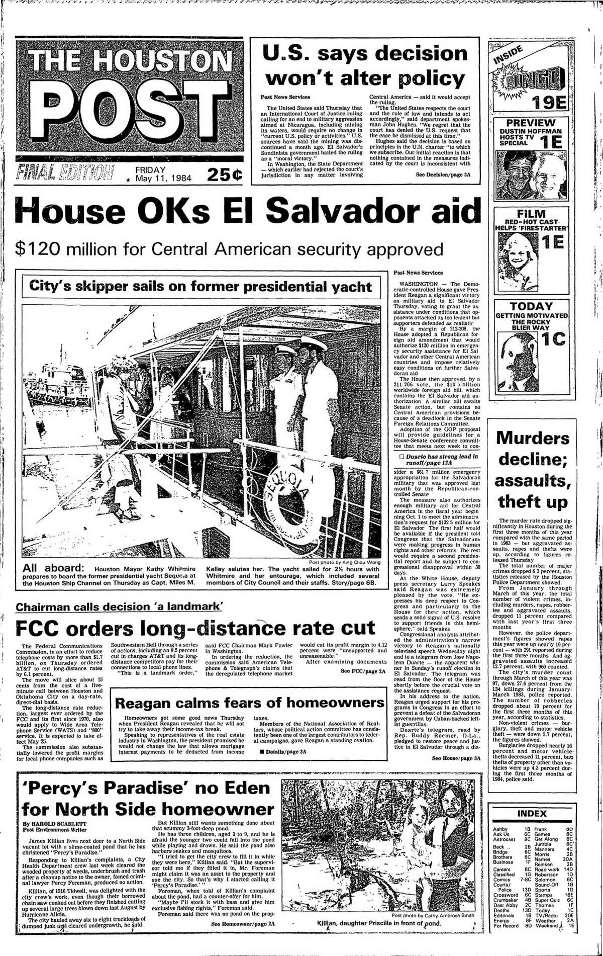 Houston Post from May 11, 1984.