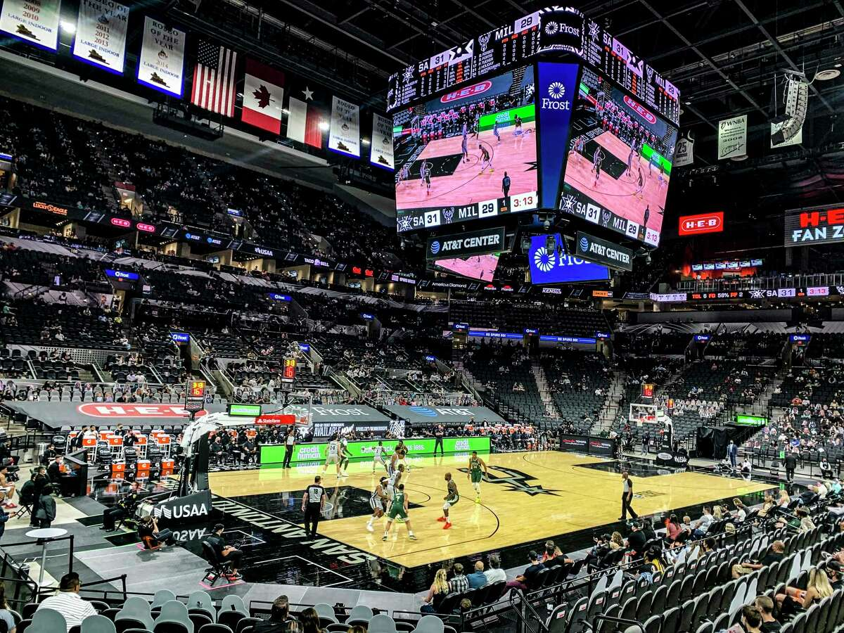 The Spurs host the Milwaukee Bucks in the AT&T Center on Monday, May 10, 2021.