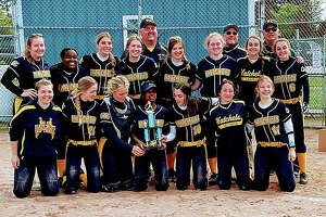 The Bad Axe varsity softball team took home the championship Saturday at the Hatchet Invitational. The Hatchet baseball team also finished in first place.