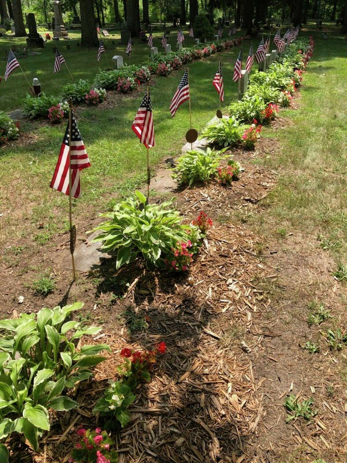 Proceeds from Chemical City Garden Club's annual plant sale will go towards purchasing plants and other items needed to spruce up veterans' graves in Midland. (Photo provided)