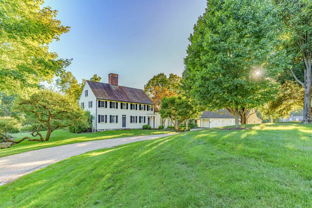 The exterior of the main house on 125A Town Line Road, located on the line of Bridgewater and Roxbury, Conn. The home has been listed for $5.875 million.