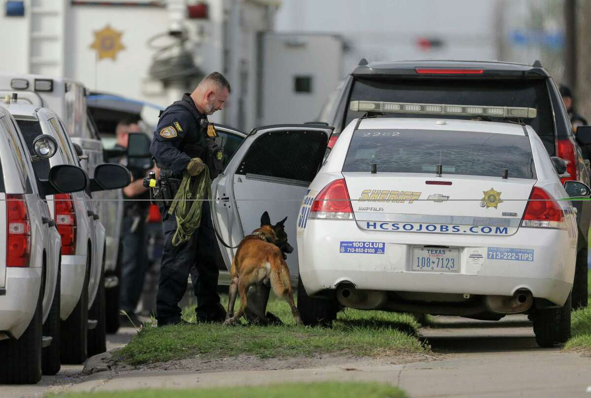 Harris County Sheriff's Office deputies and its SWAT team responded to a gun range store on the 11300 block of Eastex Freeway following a break-in at the store on Tuesday, May 11, 2021, in Houston.