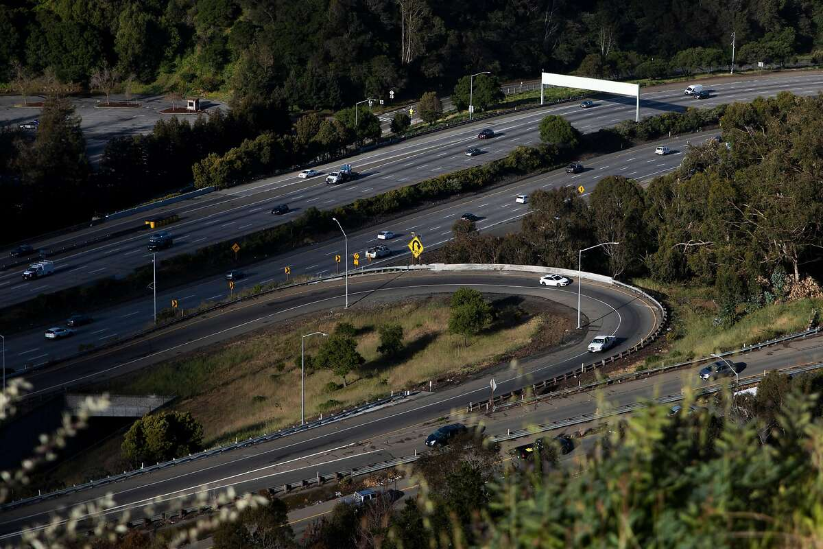 Cars move comfortably along Highway 24 in Oakland, Calif. Monday, April 26, 2021. CalTrans data for the Bay Area's nine counties shows that while traffic volume has definitely rebounded to near pre-pandemic levels, actual congestion on freeways still remains lower than what it was before the pandemic.