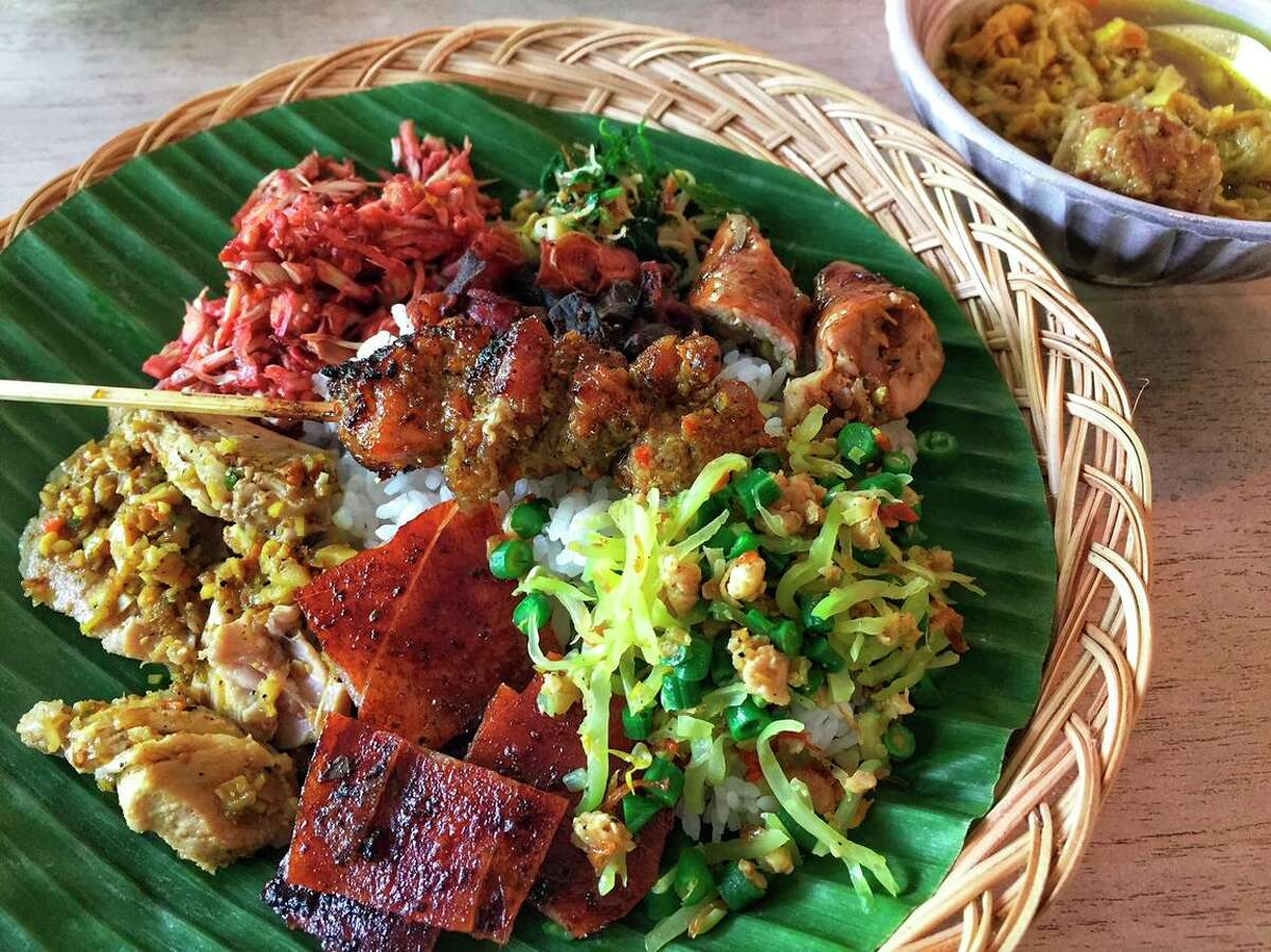 Balinese pork is served for a ChiliCali pop-up. Chef Siska Silitonga plans to serve the dish at her upcoming Indonesian restaurant, Warung Siska, in Redwood City.