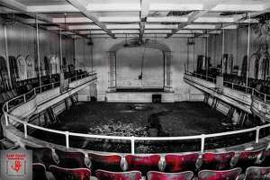 A picture inside of the Sterling Opera House in Derby on April 25, 2021.