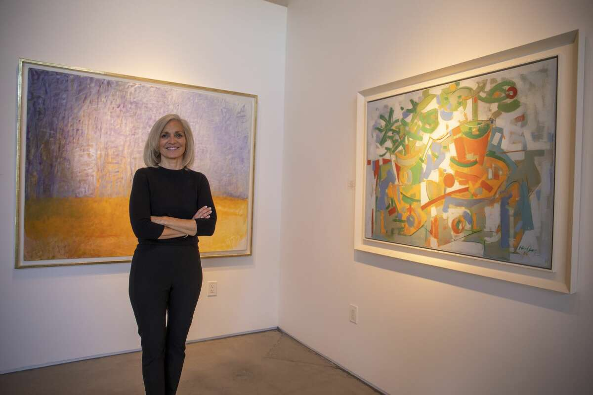 Kathryn Schorr poses for a portrait at Baker Schorr Fine Art in Midland.