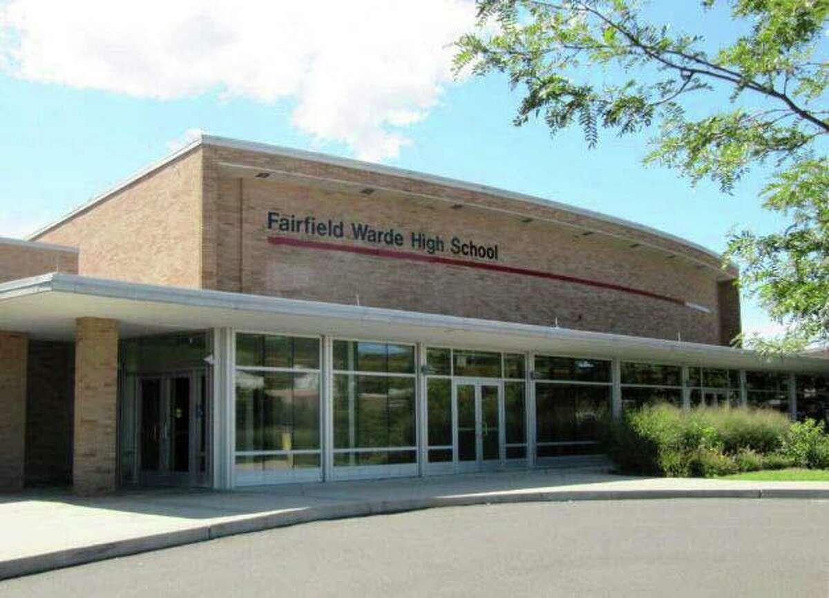 A file photo of the Fairfield Warde High School on Melville Avenue in Fairfield, Conn.