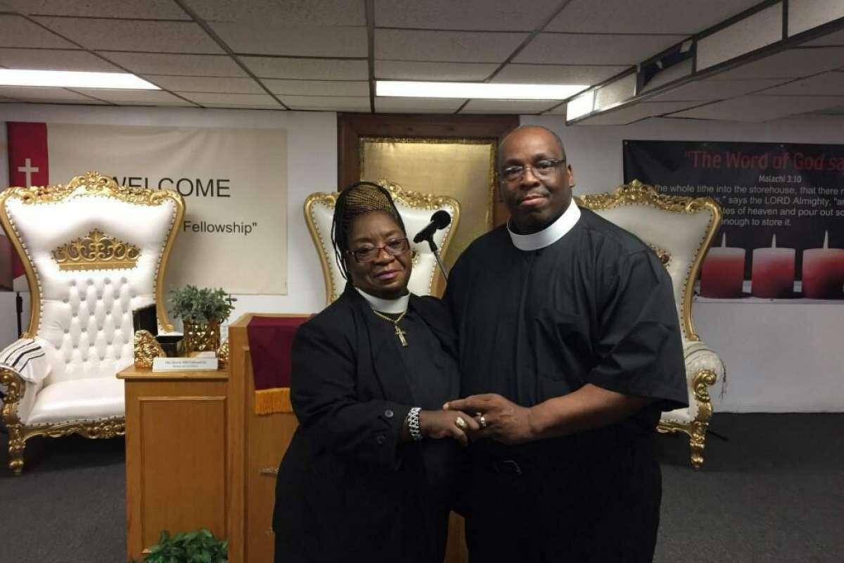 Pastors John and Brenda Adkins of His Divine Will Fellowship.