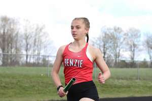 Benzie Central's track and field team competes at Buckley on May 10.