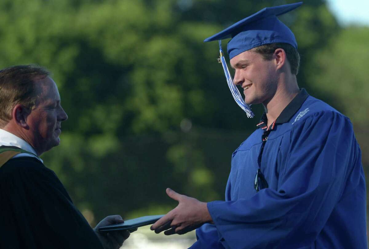 Wilton High School has previously held outdoor graduation ceremonies at Fujitani Field. After given the option to have another motorcade graduation, or a more traditional ceremony at the school stadium, the vast majority of seniors voted for the latter.