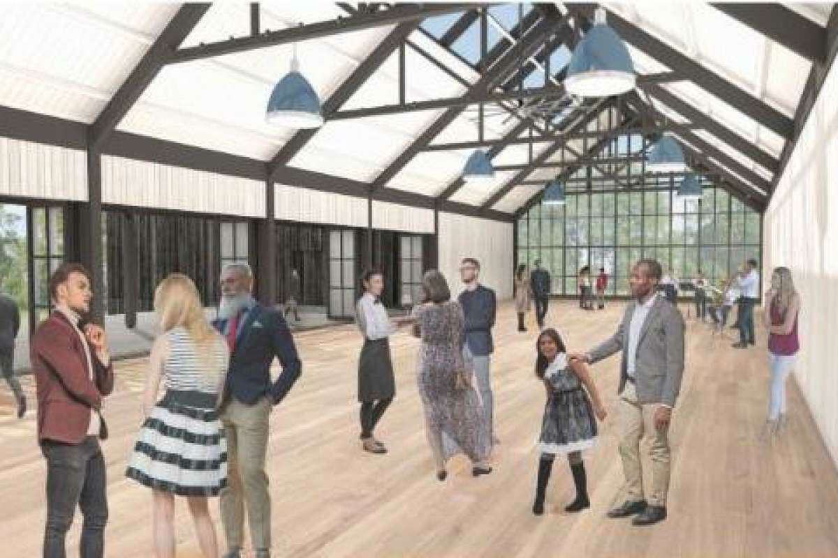 An artist's rendering of a proposed learning center on Old Mill Road.