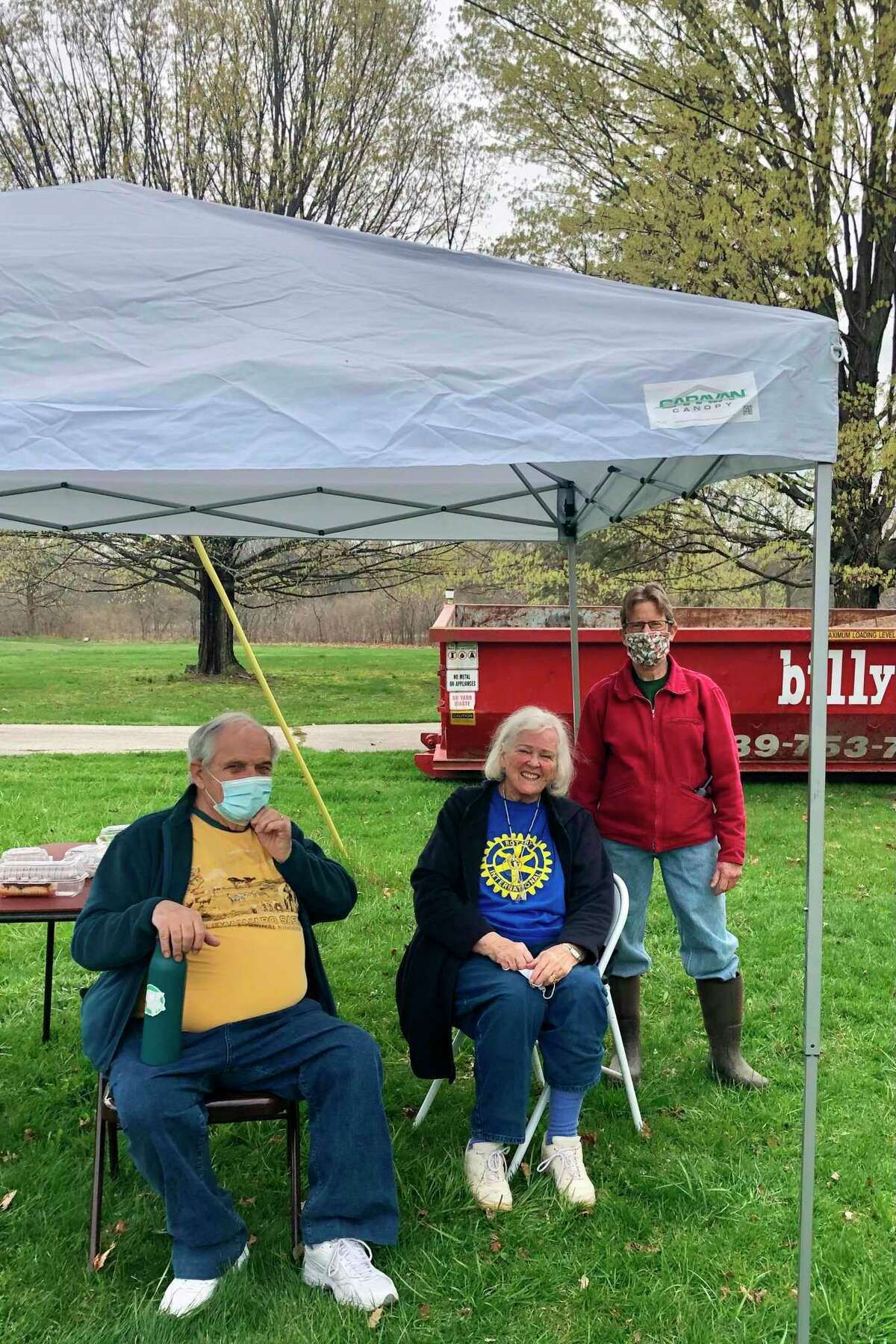 The Rotary Club of Midland (Noon) and The Midland Morning Rotary Club partnered with Little Forks Conservancy to tackle a cleanup project that was on a property heavily affected by the May 2020 dam failures. (Photo provided)