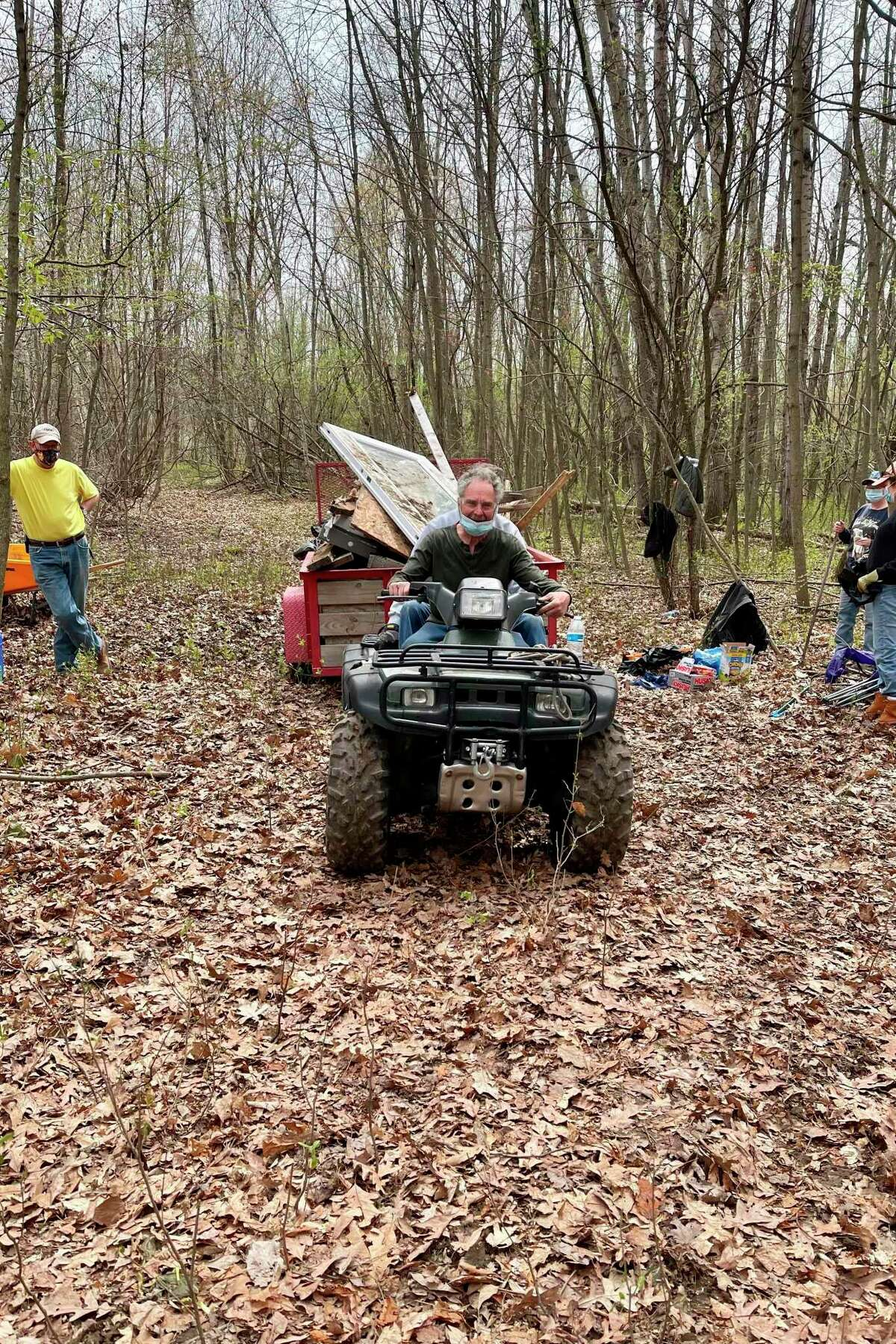 Though this Sanford property is privately owned, Little Forks Conservancy holds a conservation easement and helped facilitate the day of cleanup with the property owner. (Photo provided)