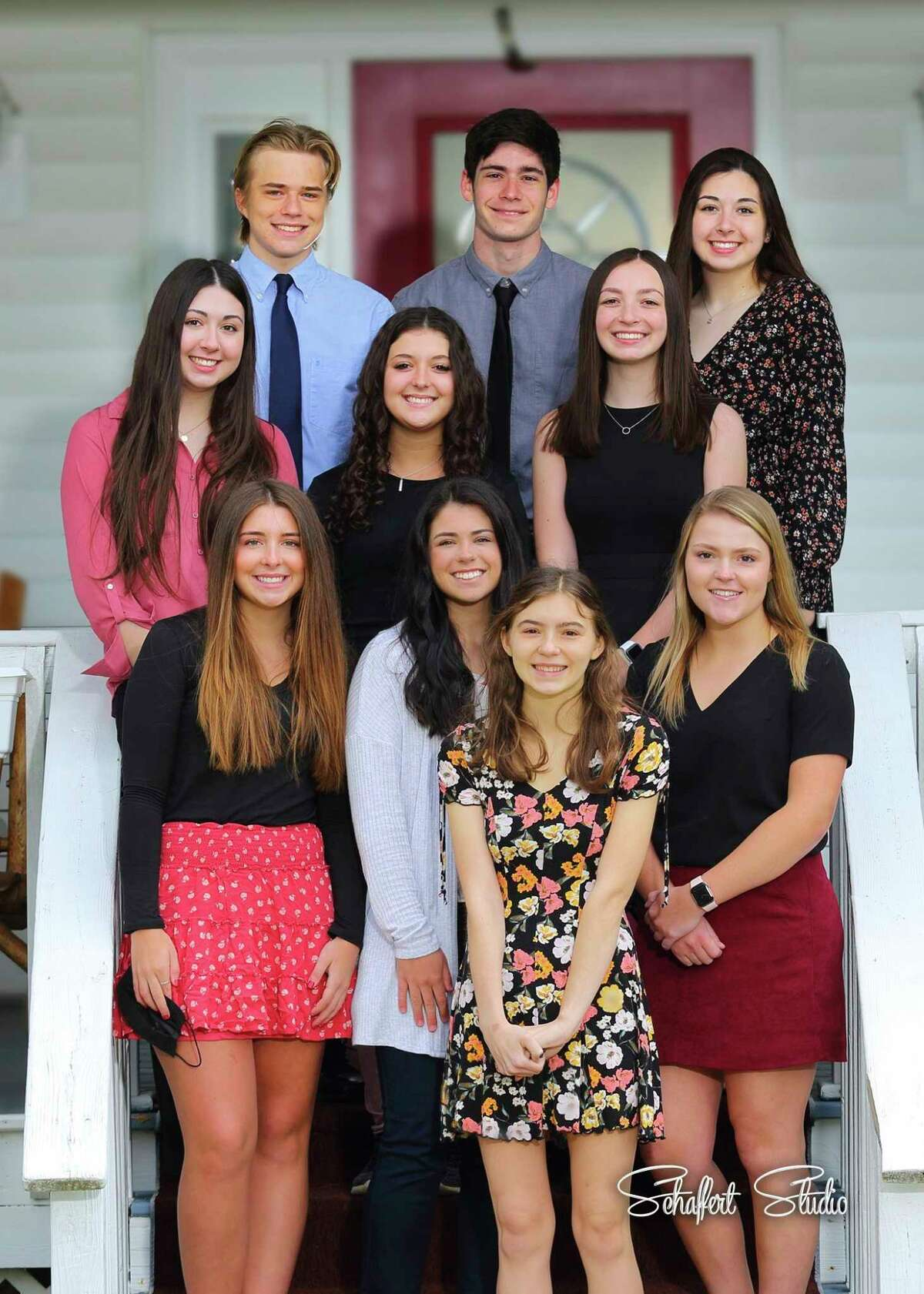 Pictured is the Meridian Early College High School's Kiwanis Top 10 percent. Students include, back row, Jack Murphy, Jackson Eggerd, and Madelyn Ankoviak; second row, Cambrya Ankoviak, Alexandra Dodman, and Morgan Glann; first row, Alyssa Swanton, Jenna Holzinger, Ashley Chase, and Allison Sutton. (Photo Provided)