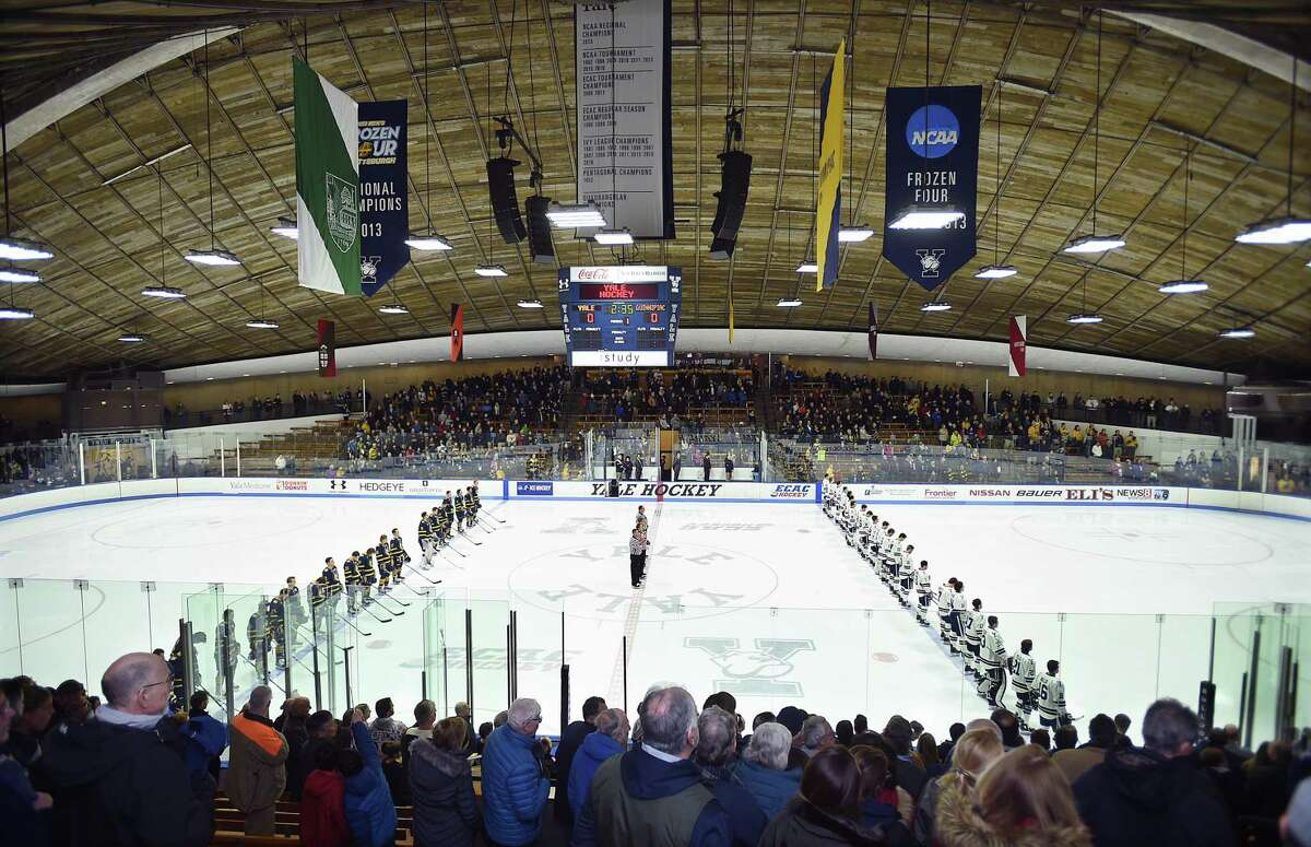 Yale hosts Quinnipiac, Friday, March 2, 2018, for a best-of-three first round ECAC Hockey Playoff Series at Ingalls Rink in New Haven. Quinnipiac won, 5-1.