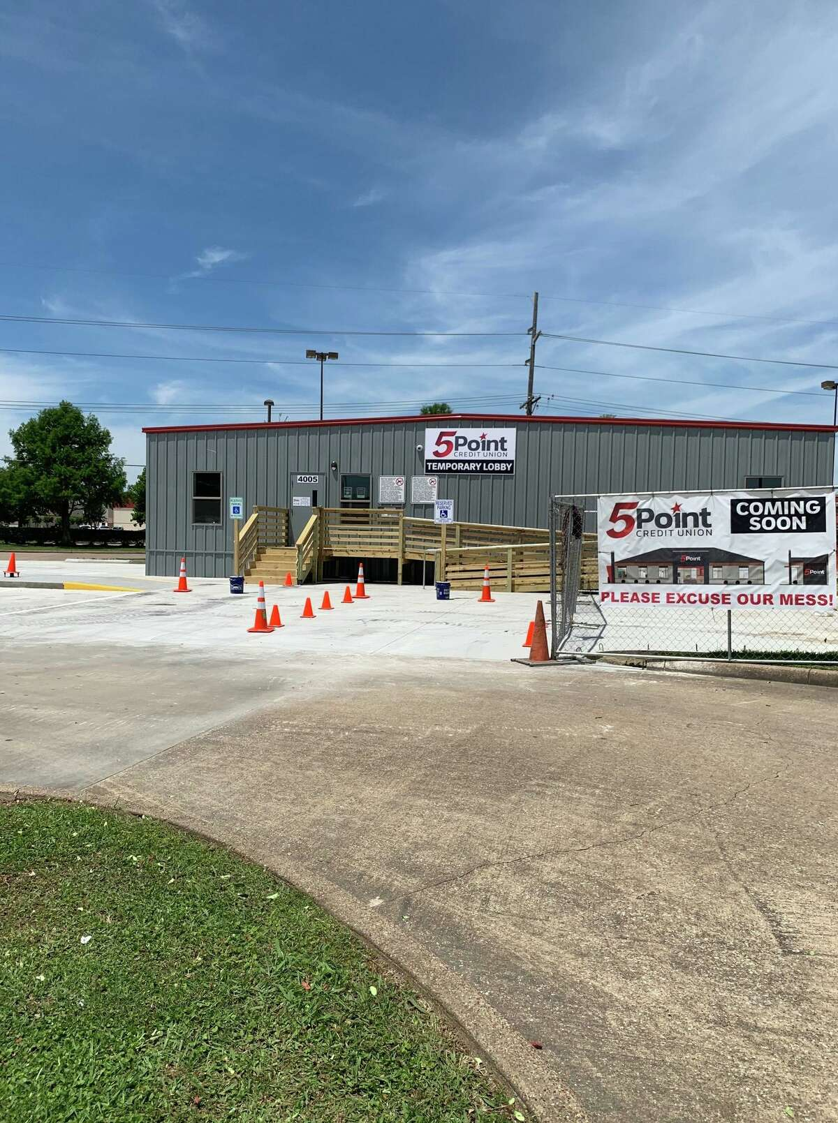 5Point Credit Union has moved it Beaumont branch into a temporary building while it undergoes a remodel.