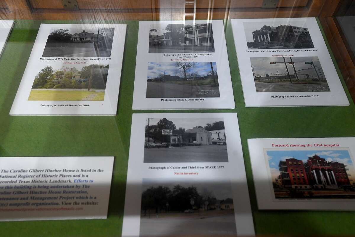 The Jefferson Counnty Mini-Museum has a new exhibit in the courthouse showcasing historical buildings paired with what they look like now. Photo made Tuesday, May 11, 2021 Kim Brent/The Enterprise