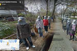 Pigeon people captured on Google Street View in Japan.