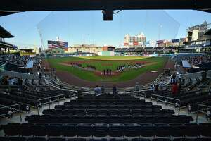 The Hartford Yard Goats open their 2021 season at Dunkin Donuts Park Tuesday night.