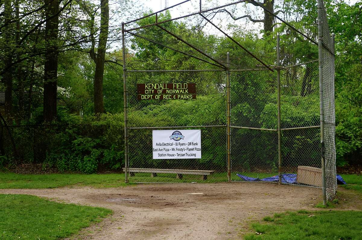 Kendall Elementary School fields May 11, 2021, in Norwalk, Conn. Some parents complaining the fields are not maintained.