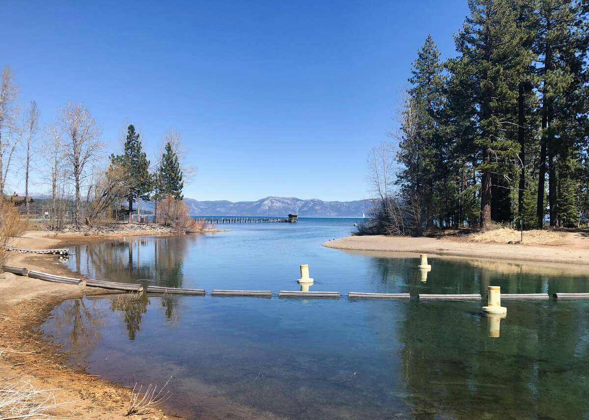 Amid drought conditions, Lake Tahoe's water levels dropped more than 2 feet compared with last year.