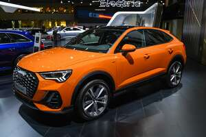 BRUSSELS, BELGIUM - JANUARY 9: Audi Q3 Sportback crossover compact luxury SUV on display at Brussels Expo on January 9, 2020 in Brussels, Belgium. The Audi Q3 Sportback has a coupe style roofline compared to the Audi Q3 SUV. (Photo by Sjoerd van der Wal/Getty Images)