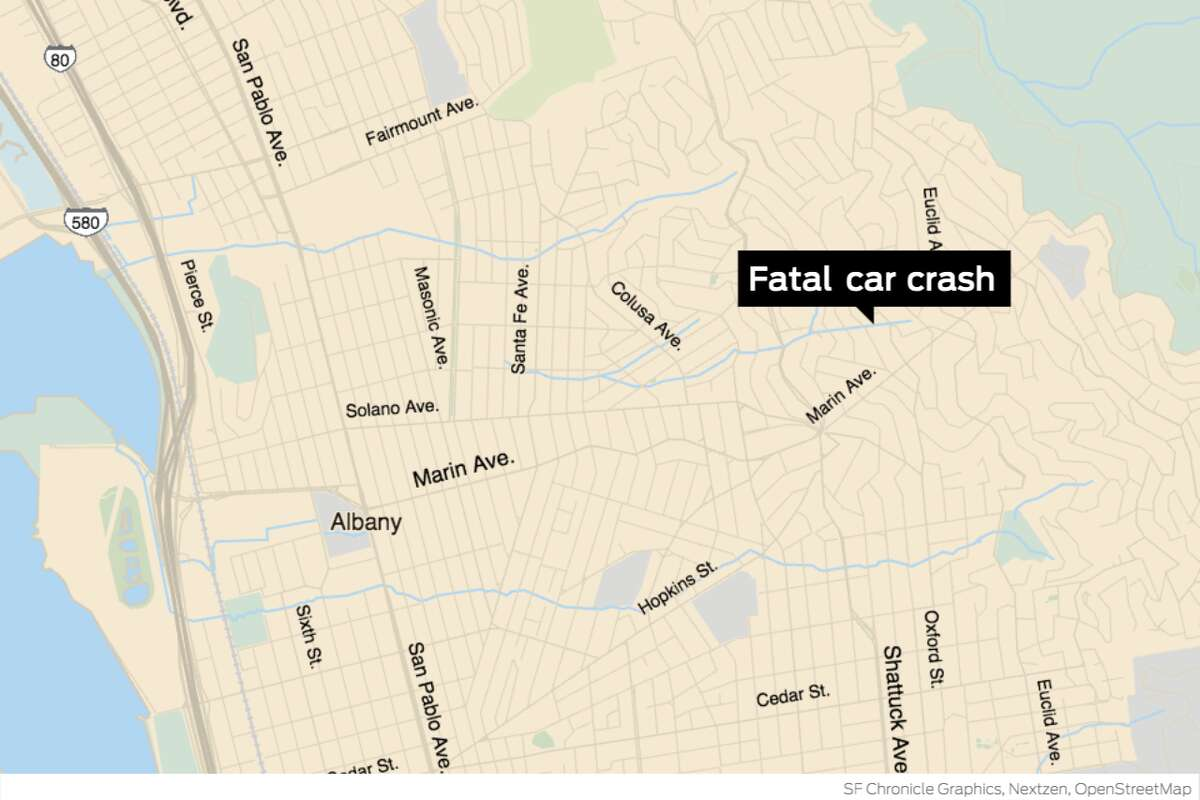 The collision occurred near Marin Avenue and Spruce Street at 1:39 p.m.