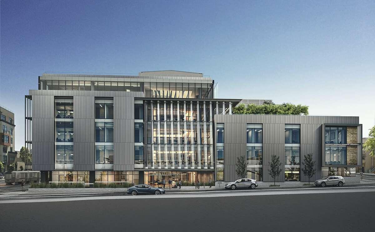 A rendering of the Nancy Friend Pritzker Mental Health Building.