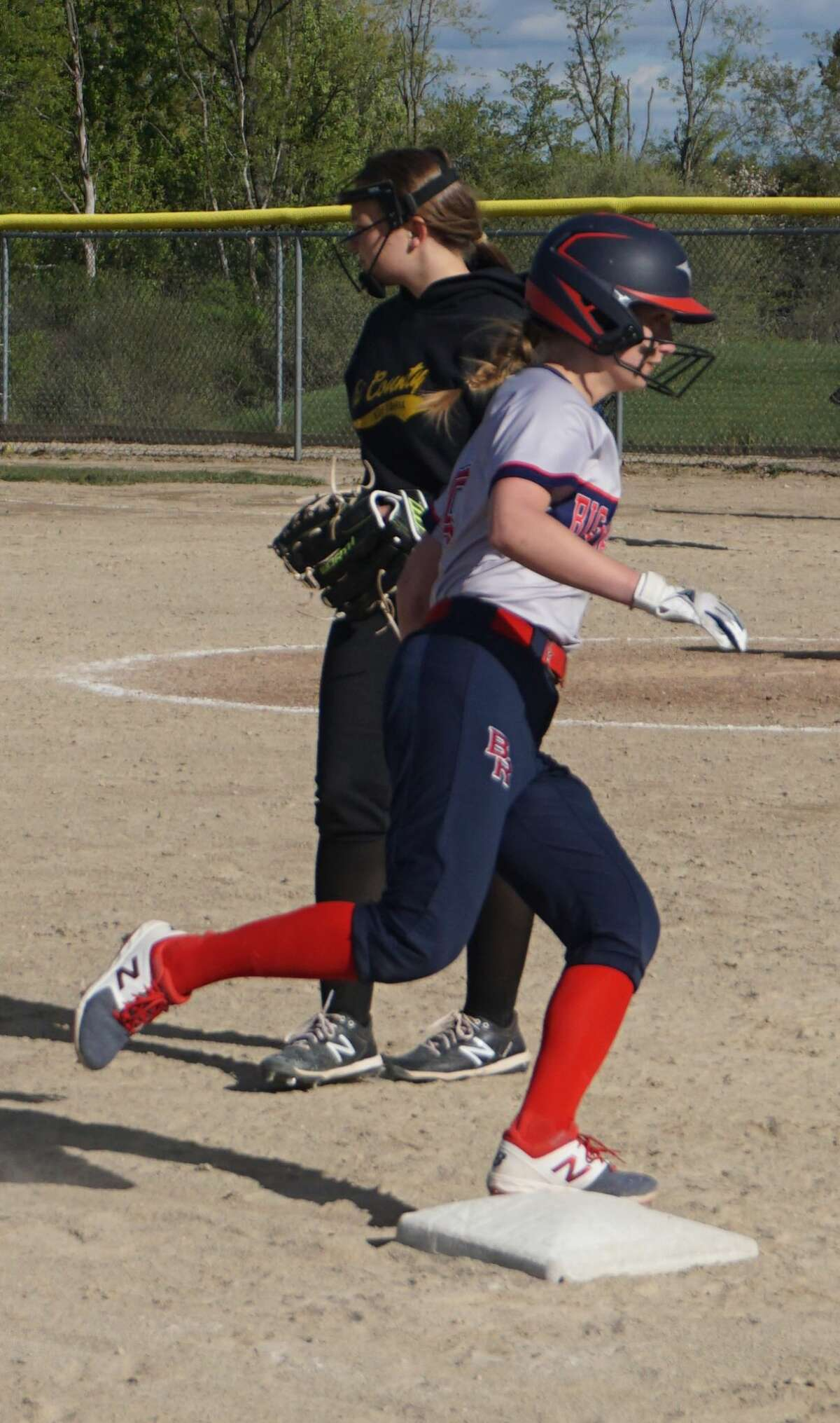 On Tuesday night, the Big Rapids softball team played host to Tri County, defeating the Vikings 19-0 over two games.
