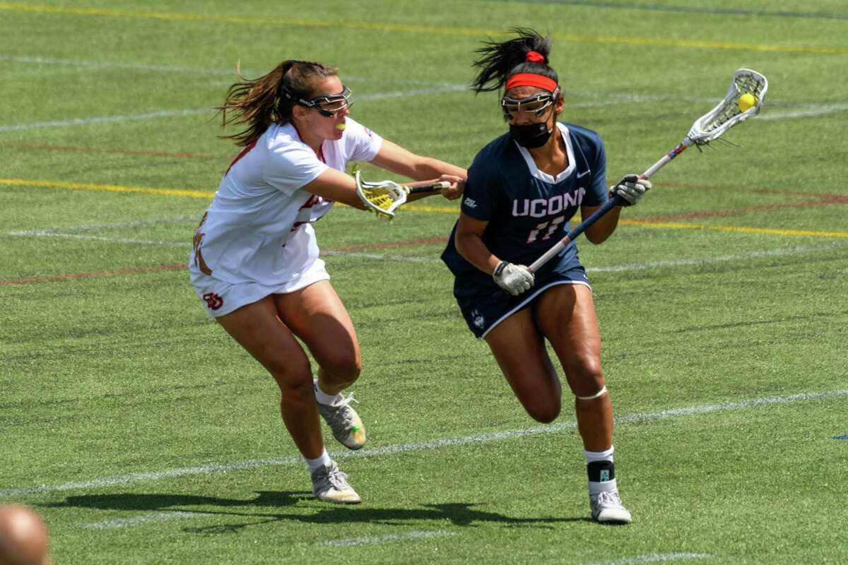 Sydney Watson leads the UConn women's lacrosse team, making their first NCAA Tournament appearance since 2013, with 53 goals and 113 draw controls.
