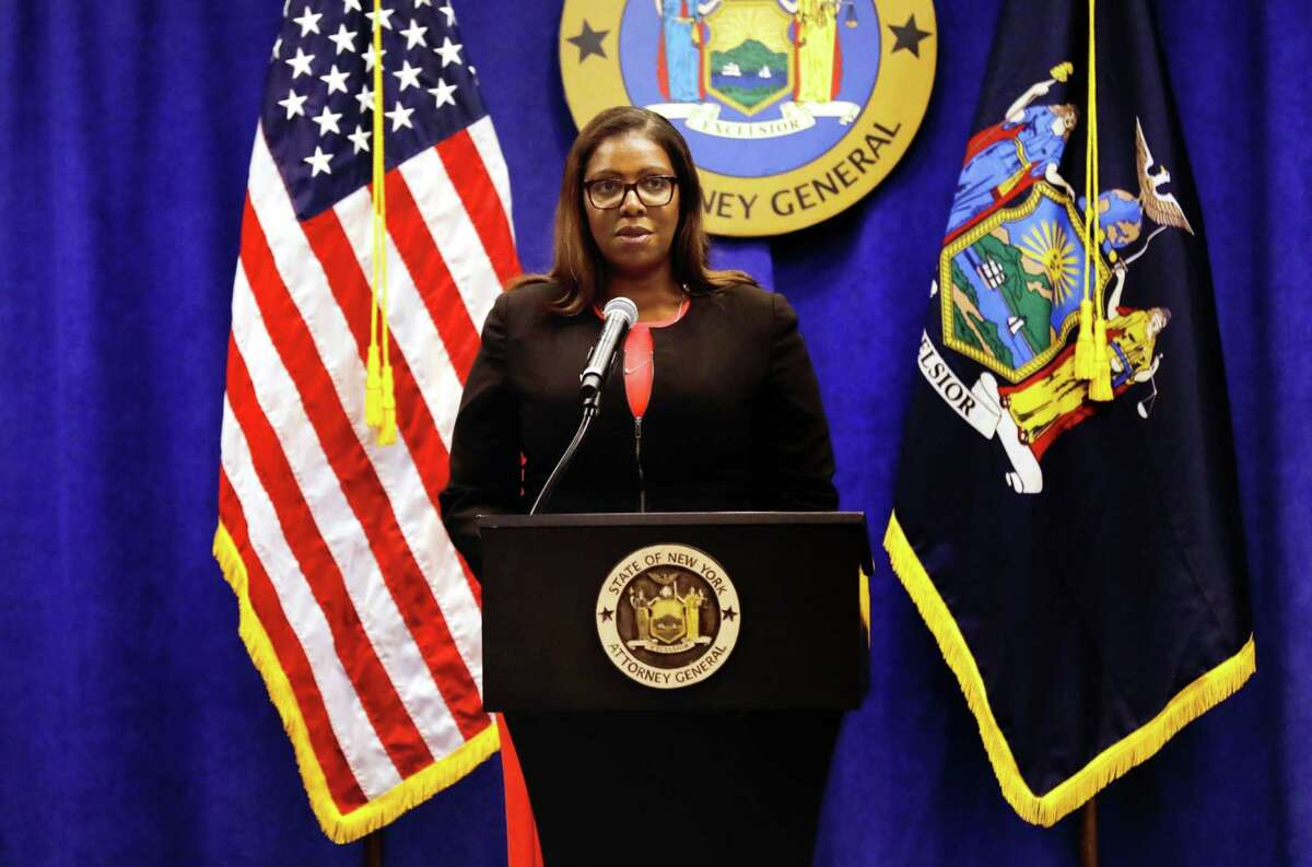 Letitia James, New York's attorney general, during a news conference in New York on Aug. 6, 2020.