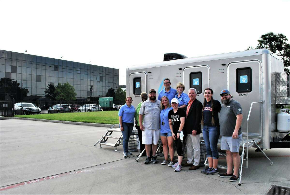 Northwest Asssistance Ministries recently hosted mobile showers at their facility, giving their clients the chance to bathe.