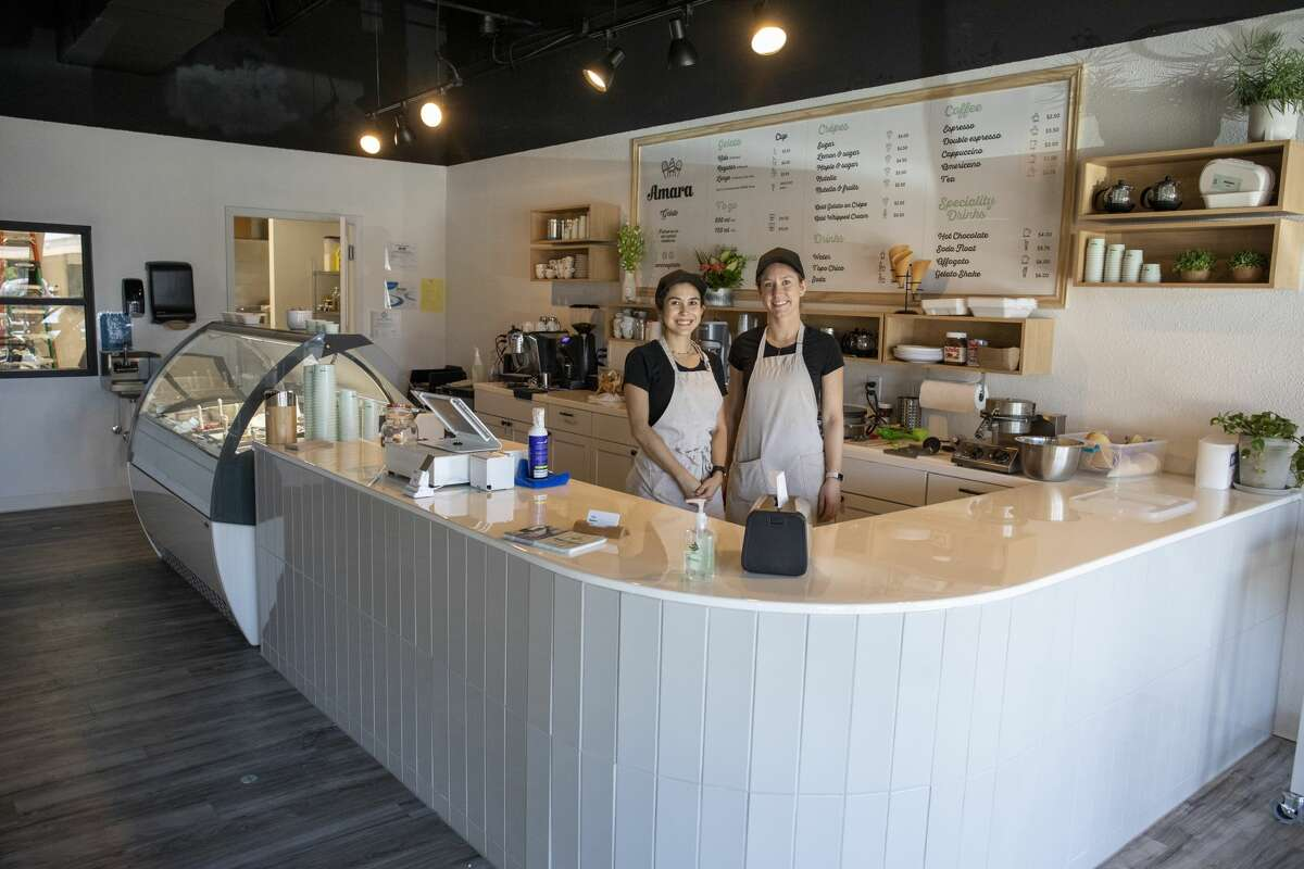 Amara Gelato owners Nabilt Alvarez and Eloise Cobos recently celebrated one year since opening their business located in San Miguel Square at 3303 Midkiff Road Suite 138.