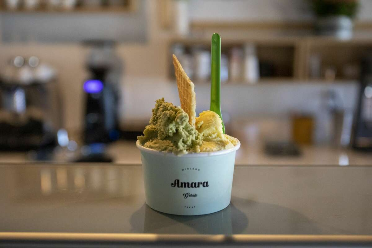 Amara Gelato opened just over one year ago in San Miguel Square and serves gelato, sorbet, crepes and coffee at 3303 Midkiff Road Suite 138.