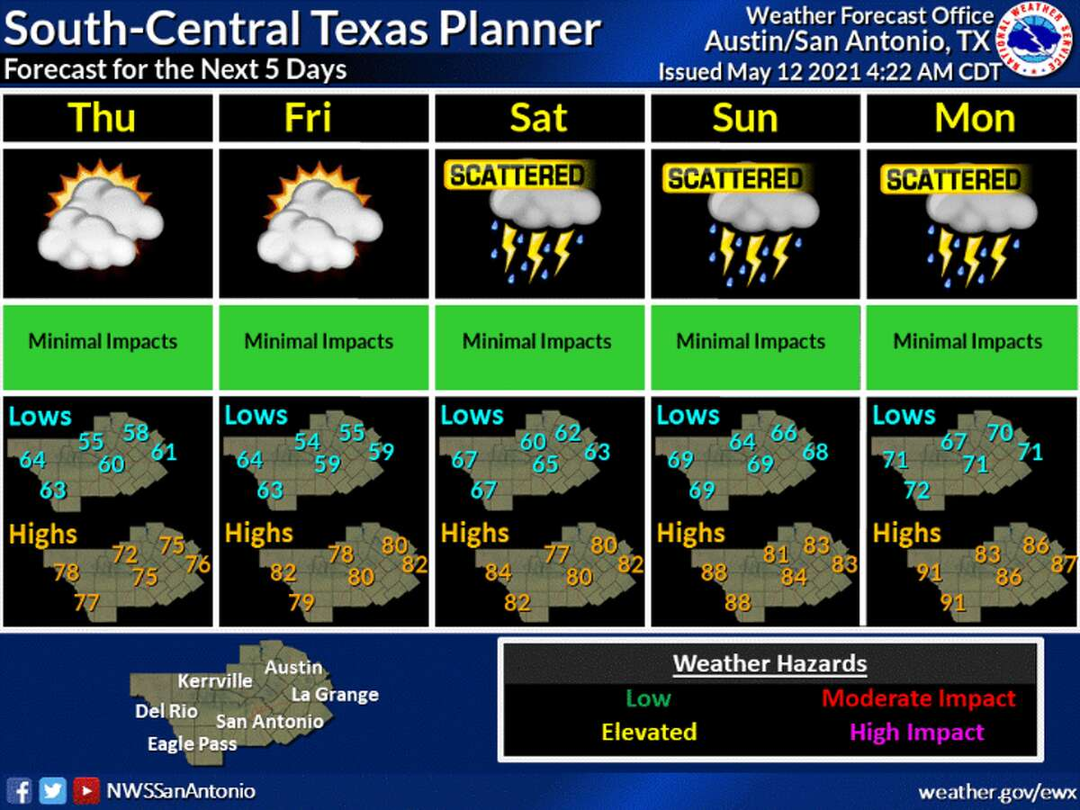 Rain chances increase Saturday morning for the San Antonio area and linger through the middle of next week.